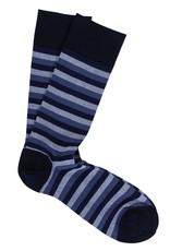 Marcoliani Marcoliani sokken blauw gestreept 4244T/501