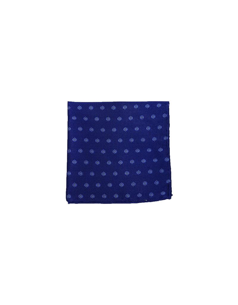 Ascot Sandmore's pochet blauw met bloemetjes 14170-518