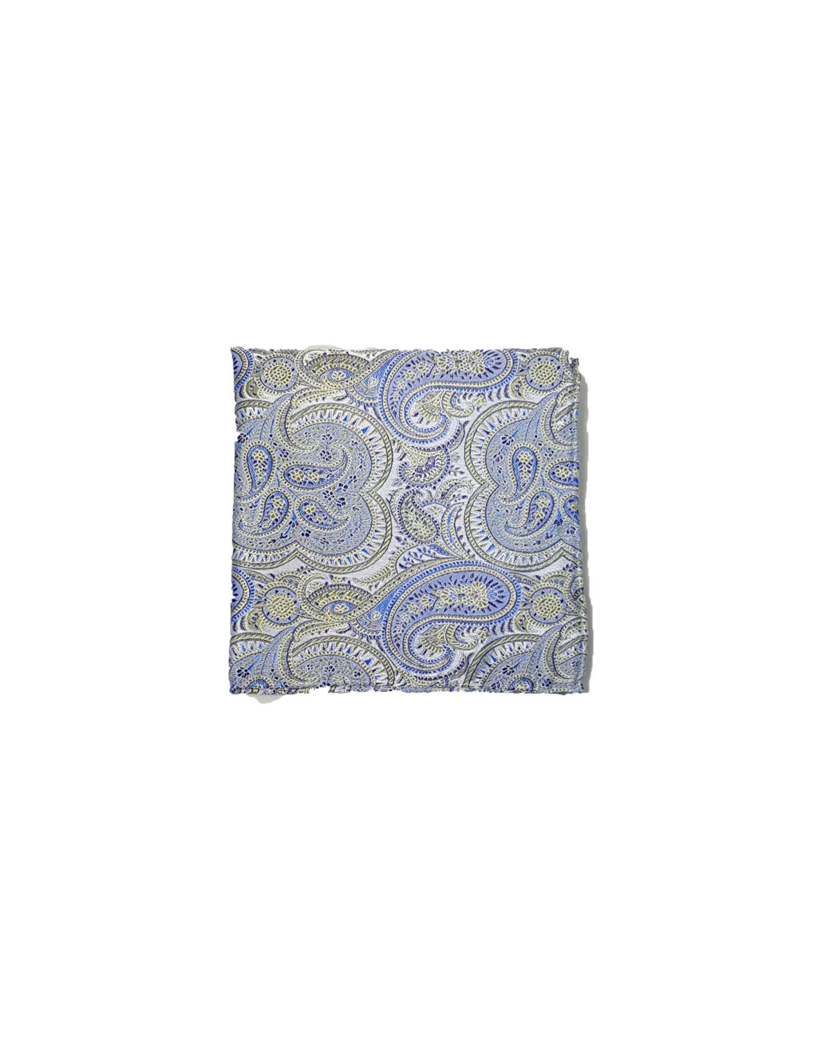 Ascot Sandmore's pochet lichtblauw-groen paisley