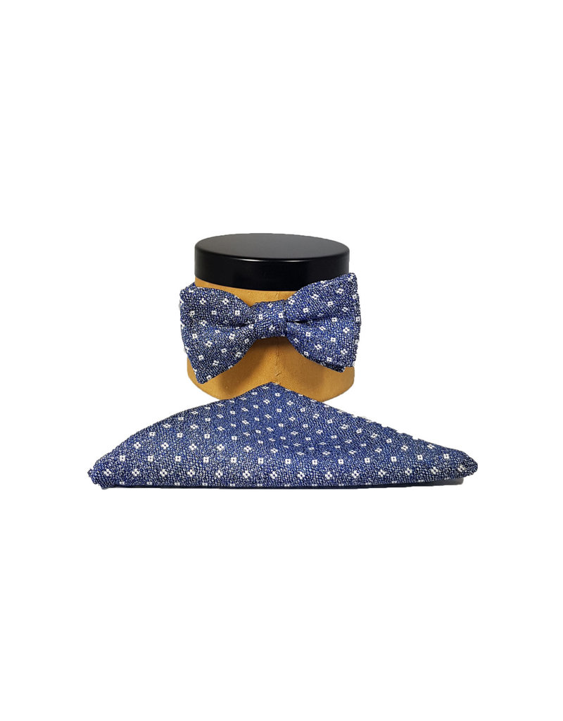 Ascot Sandmore's strik blauw bloemetje 704/1