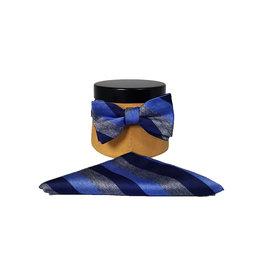 Ascot Sandmore's strik met pochet blauw