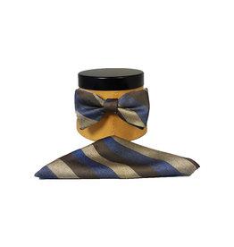 Ascot Sandmore's strik met pochet blauw-bruin