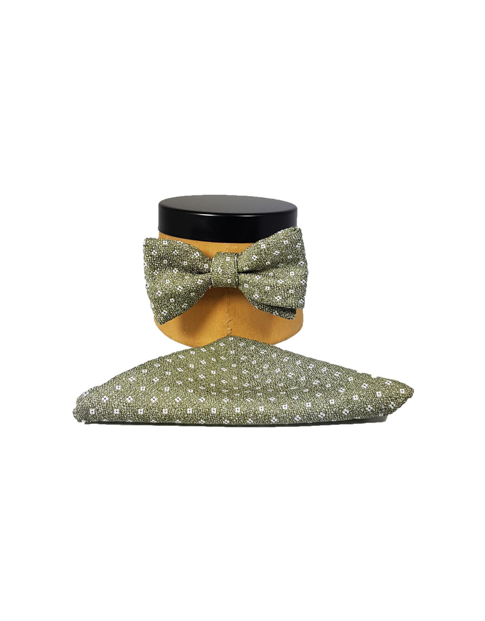 Ascot Sandmore's strik groen bloemetje 701/1