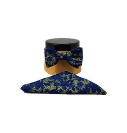 Ascot Sandmore's strik met pochet groen-blauw
