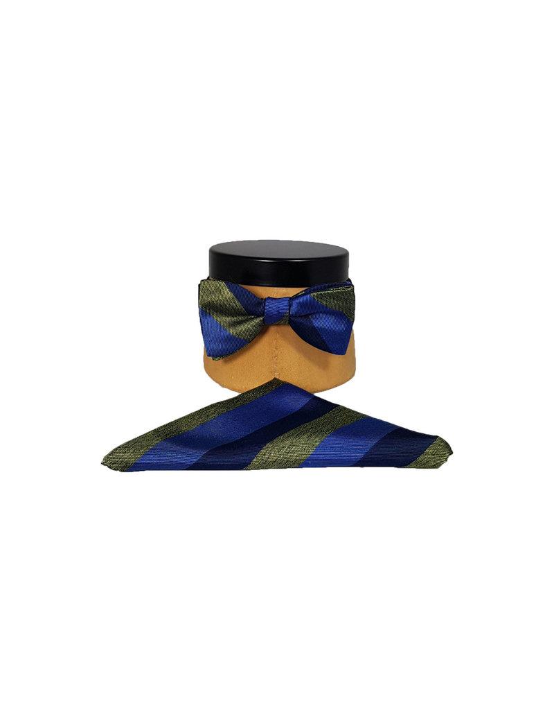 Ascot Sandmore's strik groen-blauw streepje 710/2