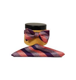 Ascot Sandmore's strik met pochet rood-blauw
