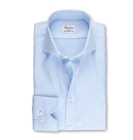 Stenströms Stenströms hemd blauw pied-de-poule fitted body