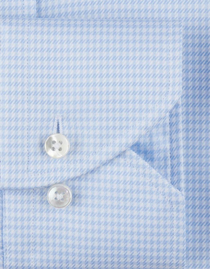Stenströms Stenströms hemd blauw pied-de-poule fitted body 602111-7936/103