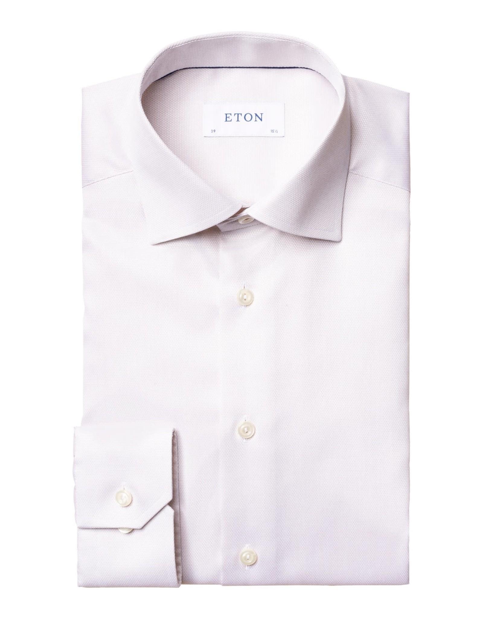 Eton Eton hemd beige slim 1055