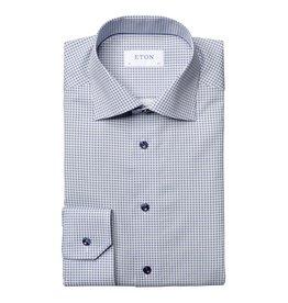 Eton Eton hemd blauw bloemetjesmotief slim