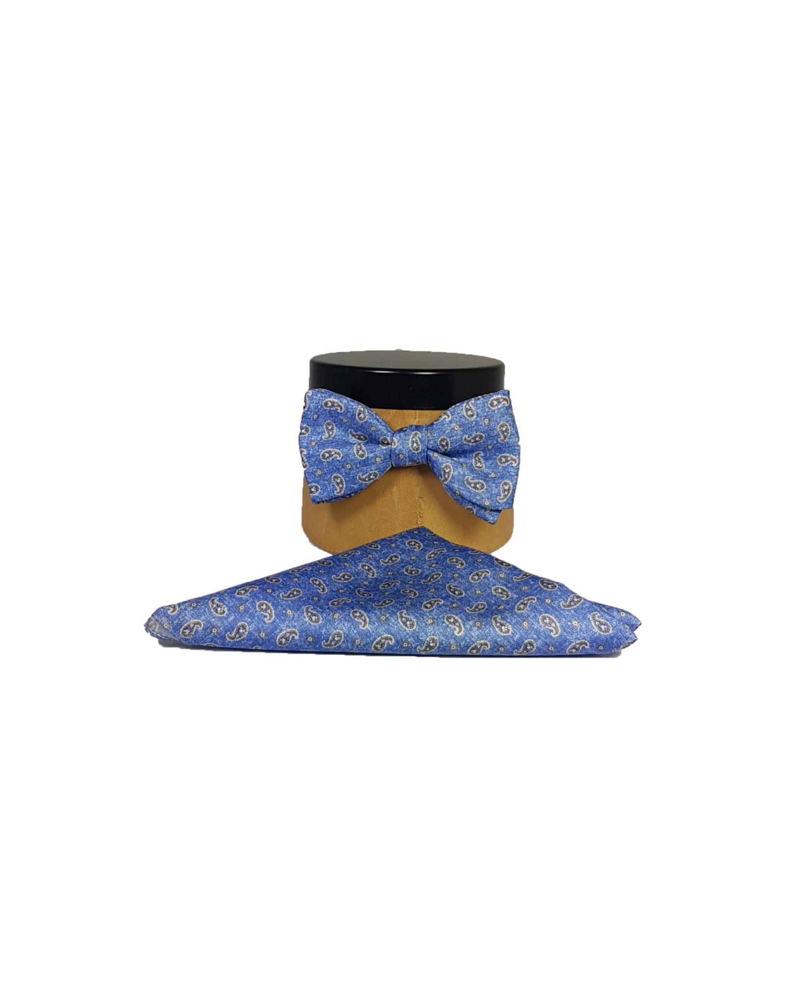 Ascot Sandmore's strik lichtblauw paisley 791/3