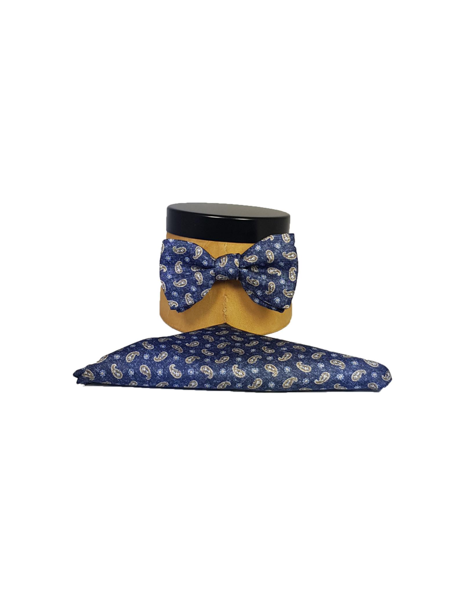 Ascot Sandmore's strik donkerblauw paisley 488/3