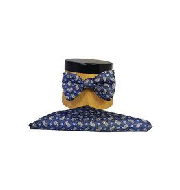 Ascot Sandmore's strik donkerblauw paisley