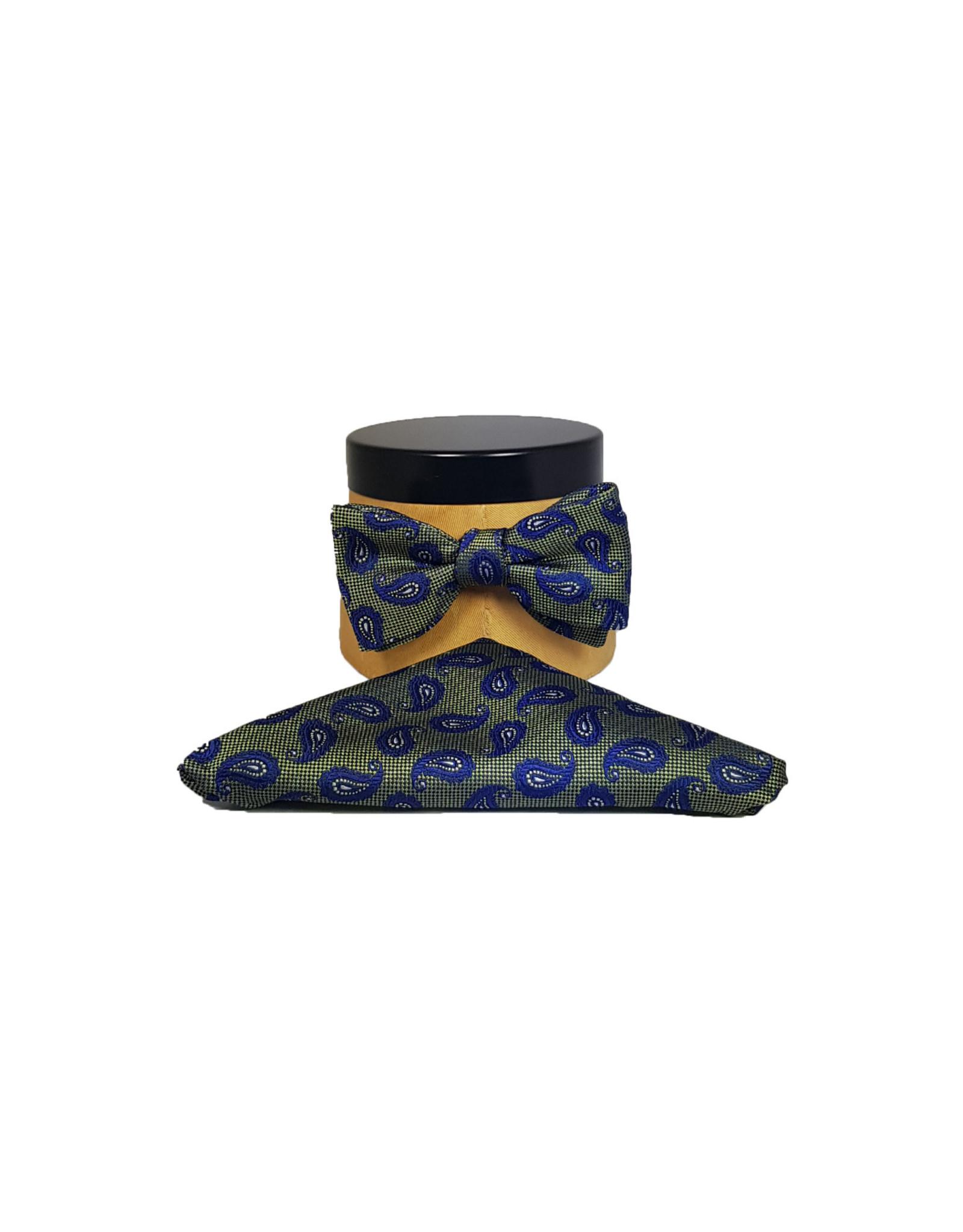 Ascot Sandmore's strik groen-blauw paisley 723/3