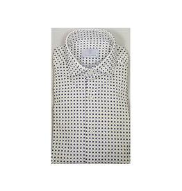 Ghirardelli Sandmore's hemd wit bloemetjesmotief semi-slim