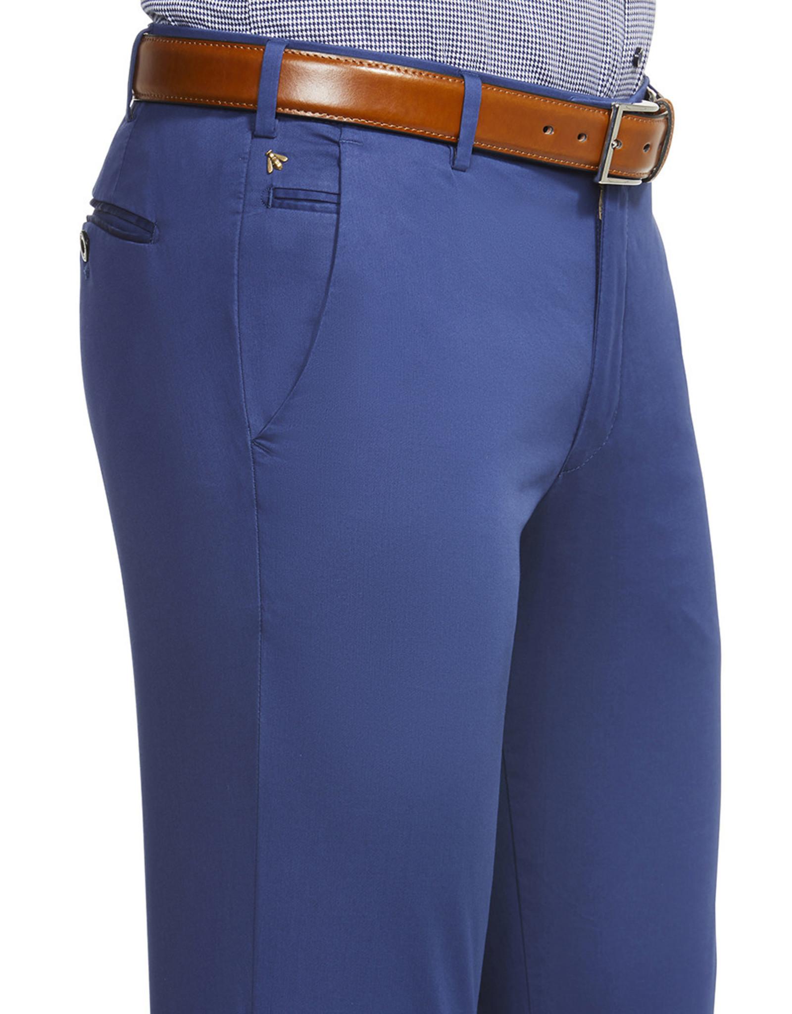 Meyer Exclusive Meyer Exclusive broek katoen blauw 8045/17