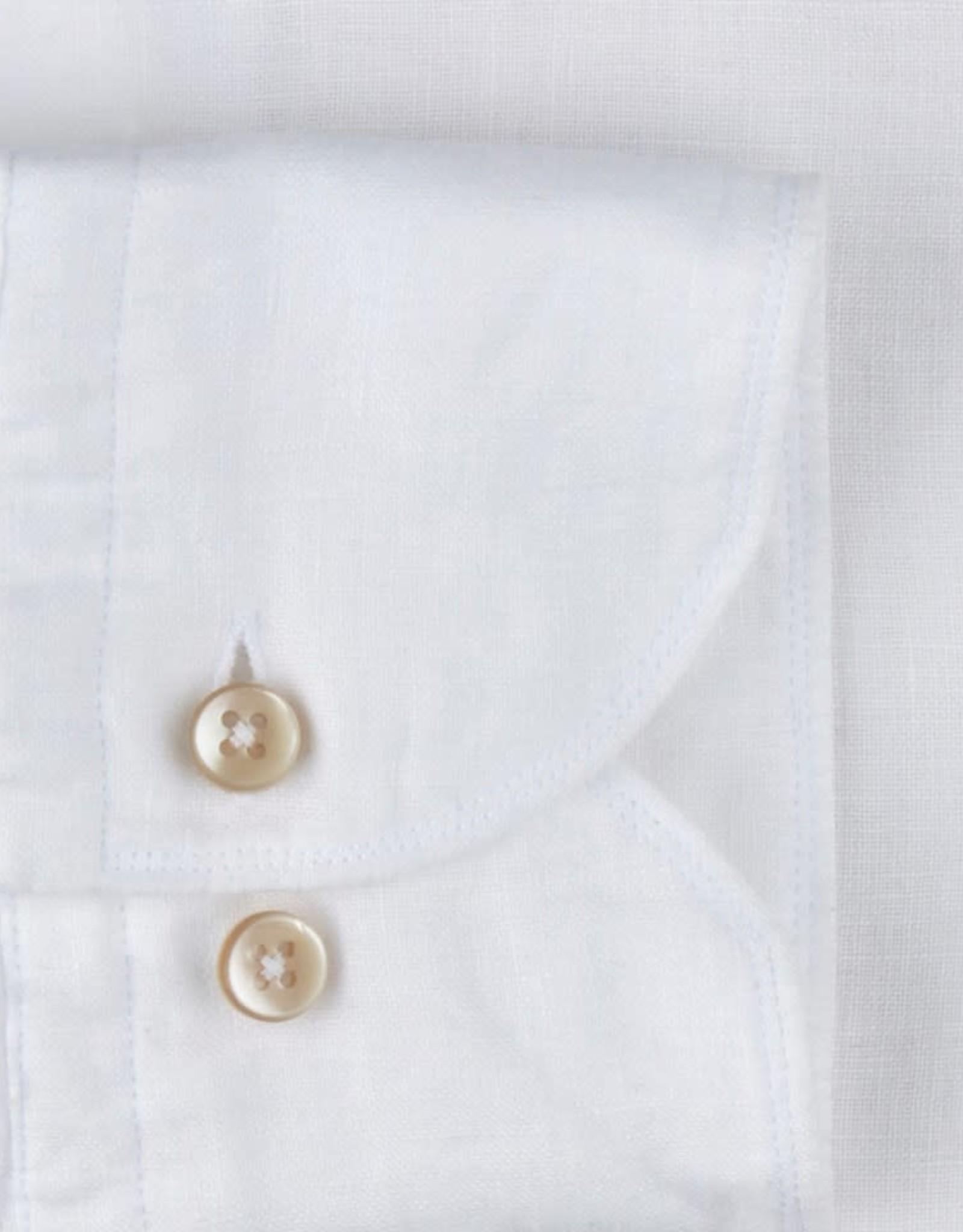 Stenströms Stenströms hemd linnen wit Fitted body 675221-7597/000