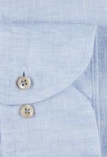 Stenströms Stenströms hemd linnen lichtblauw Fitted body 675221-7970/100