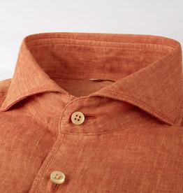 Stenströms Stenströms hemd linnen oranje Fitted body