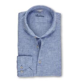 Stenströms Stenströms hemd linnen blauw Fitted body