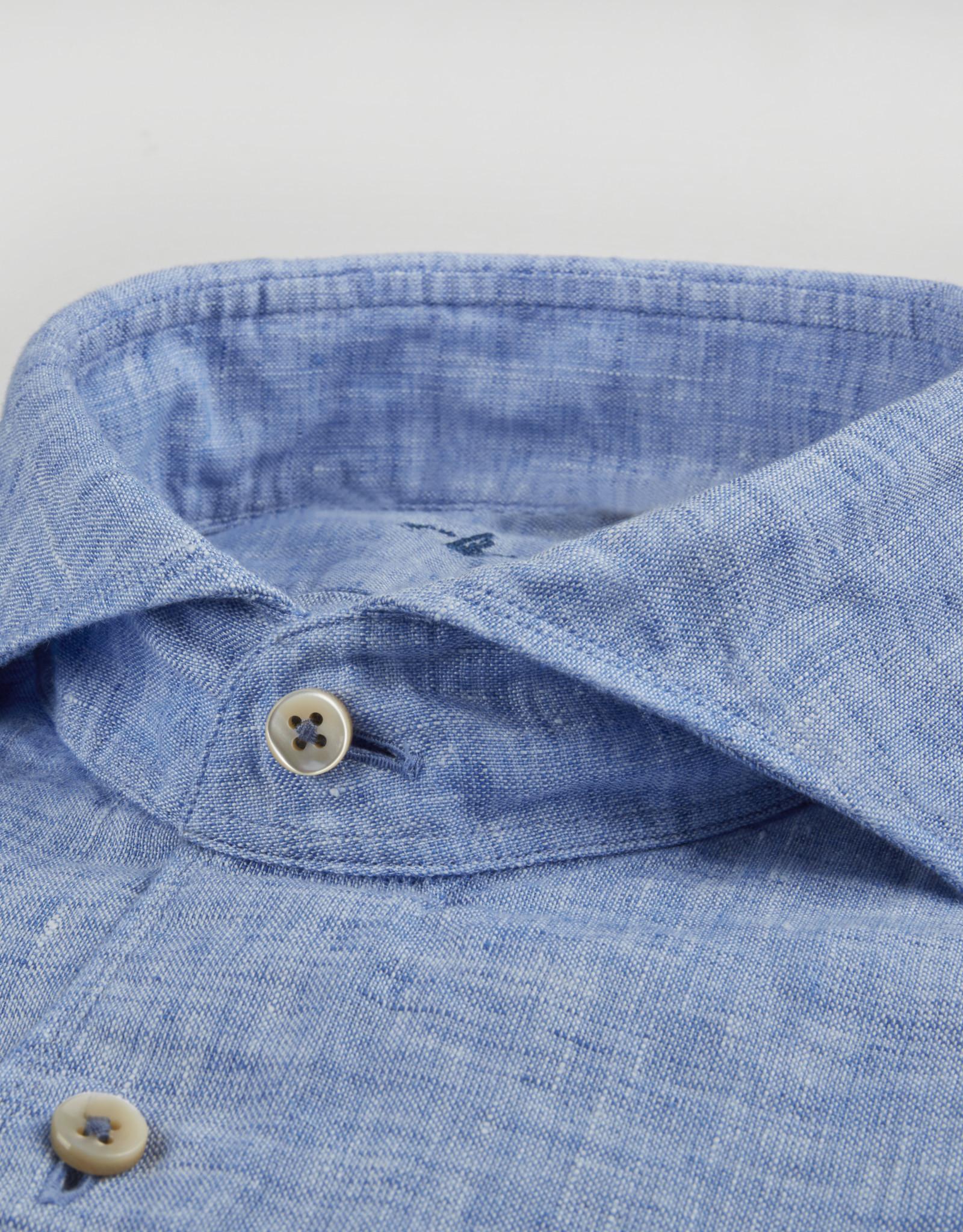 Stenströms Stenströms hemd linnen blauw slimline 775221-7970/120