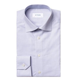 Eton Eton hemd wit-blauw slim fit