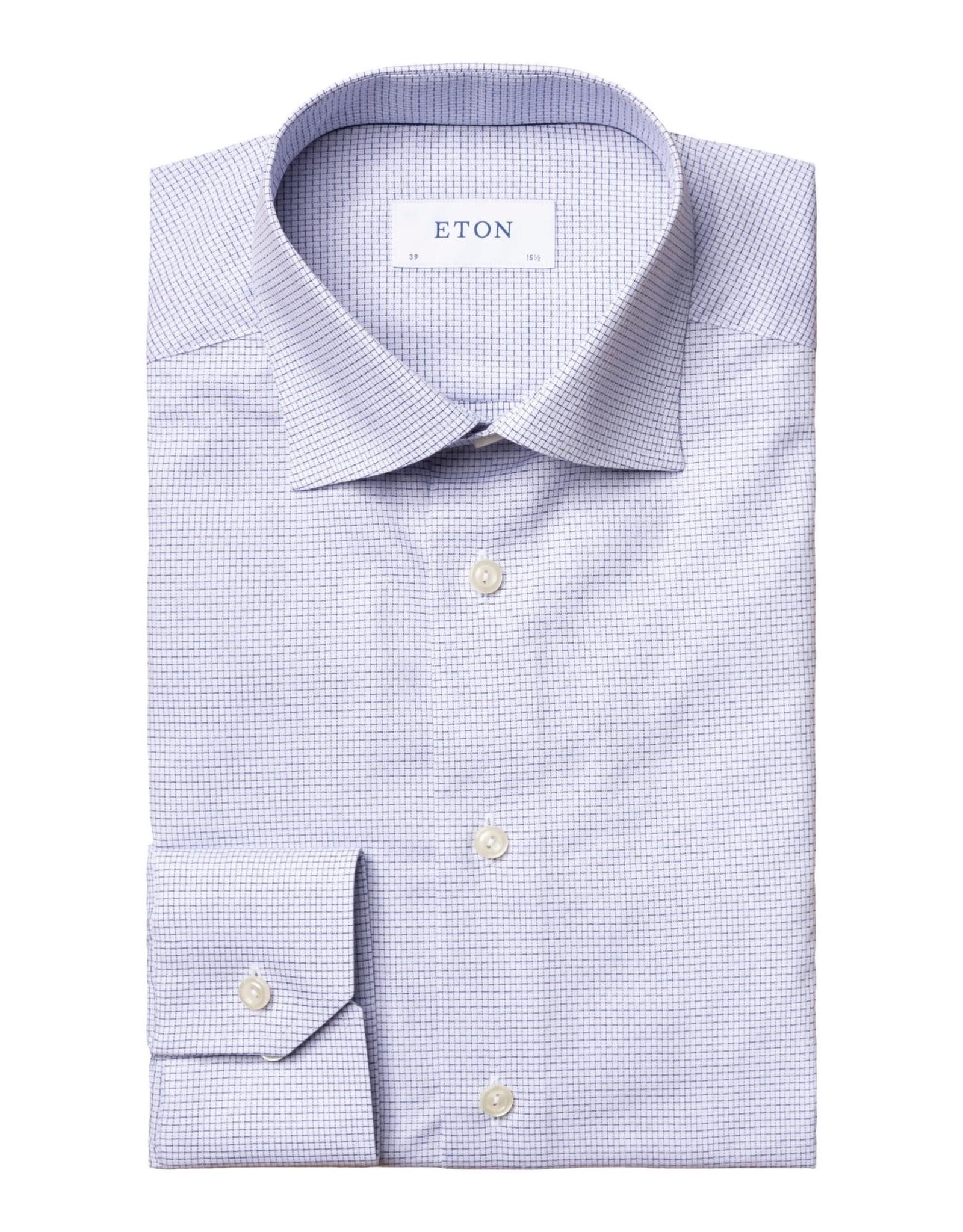 Eton Eton hemd wit-blauw contemporary 1193/29