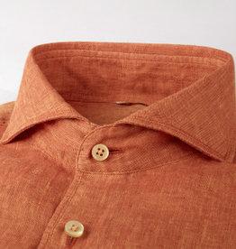 Stenströms Stenströms hemd linnen oranje Slimline