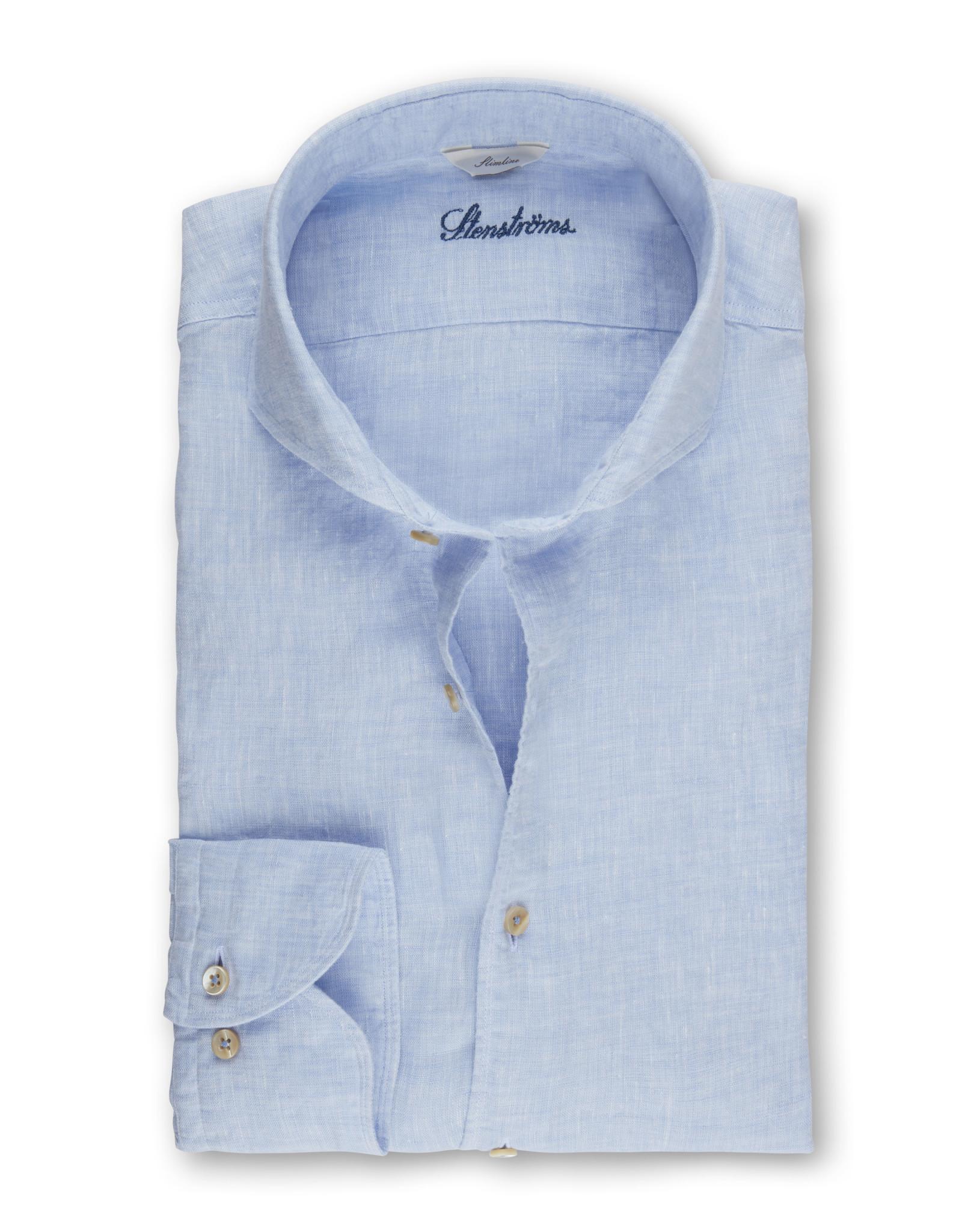 Stenströms Stenströms hemd linnen lichtblauw Slimline 775221-7970/100