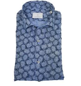 Ghirardelli Sandmore's hemd blauw Slim