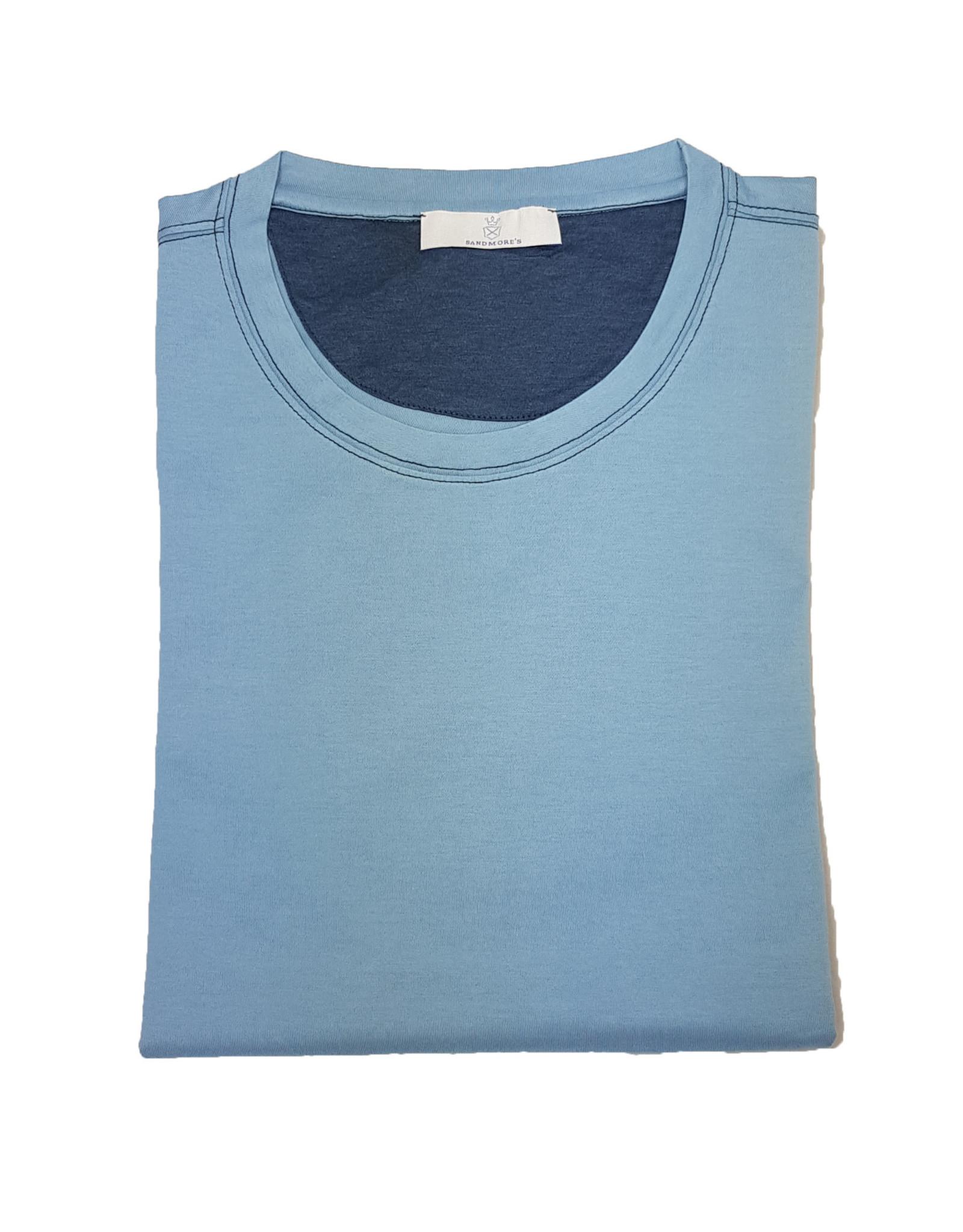 Gran Sasso Sandmore's t-shirt lichtblauw 73727/574 M:60138