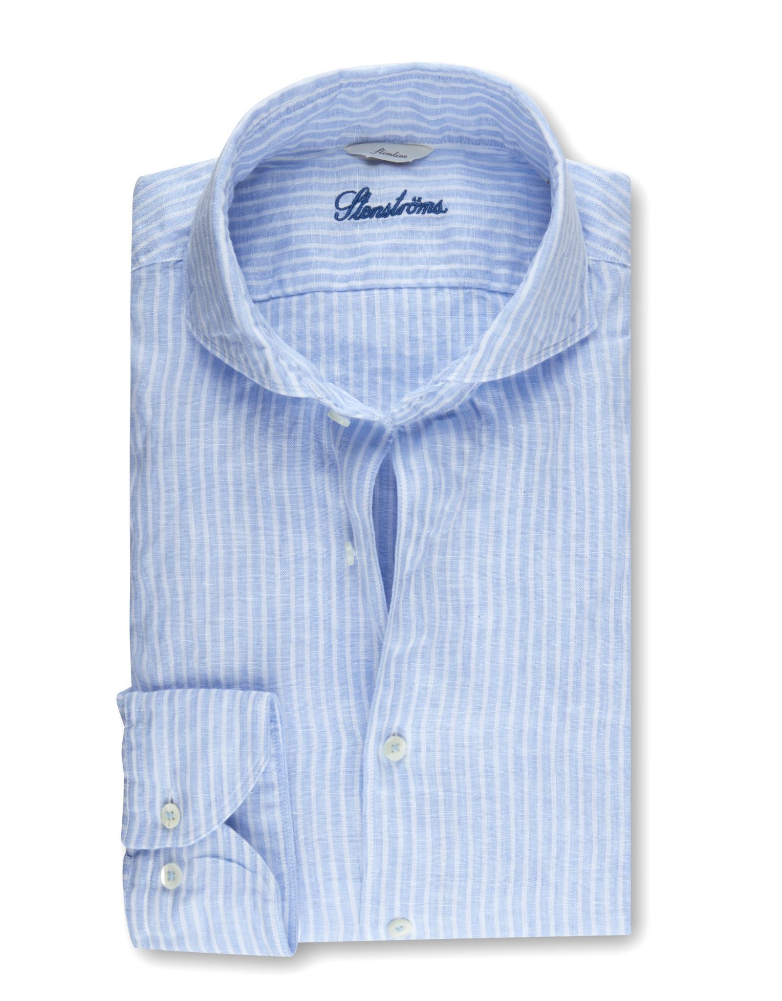 Stenströms Stenströms hemd linnen lichtblauw Slimline 775221-7959/102
