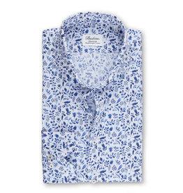 Stenströms Stenströms hemd wit-blauw Fitted body