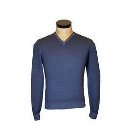 Gran Sasso Sandmore's Pull V-hals blauw