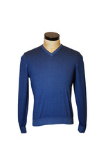 Gran Sasso Sandmore's pull V-hals blauw 22792/420 M: 55115
