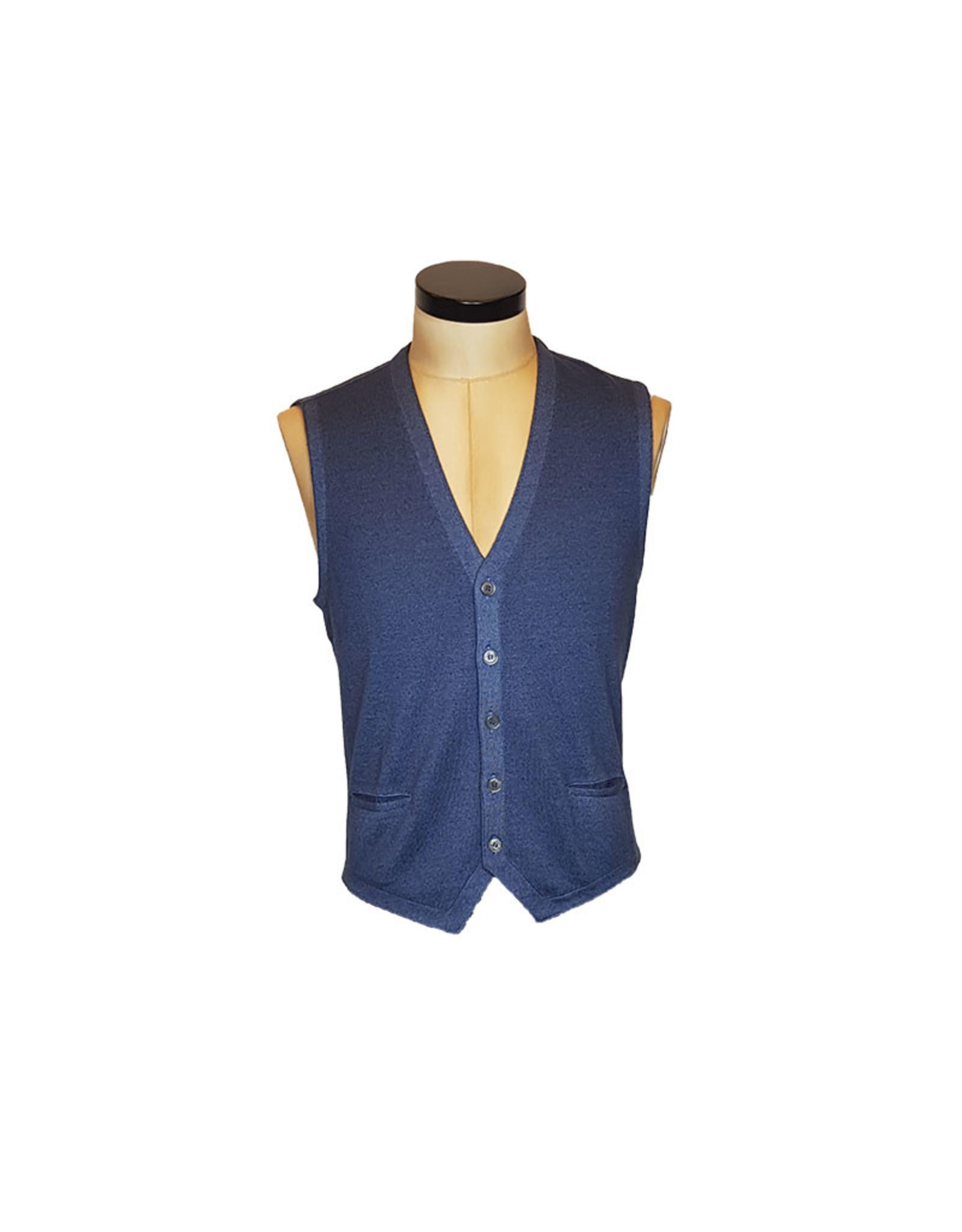Gran Sasso Sandmore's gilet tricot blauw 22746
