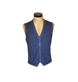 Gran Sasso Sandmore's gilet tricot blauw