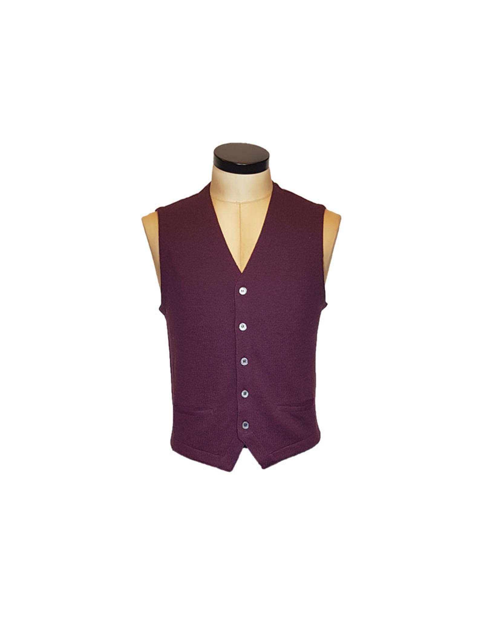 Gran Sasso Sandmore's gilet tricot bordeaux 14252