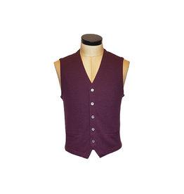 Gran Sasso Sandmore's gilet tricot bordeaux