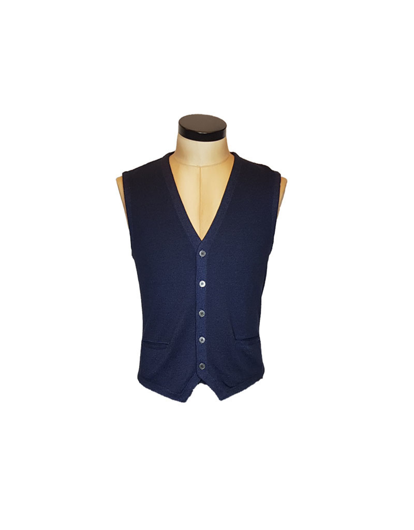 Gran Sasso Sandmore's gilet tricot donkerblauw 22746