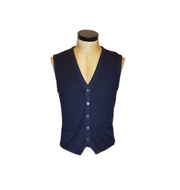 Gran Sasso Sandmore's gilet tricot donkerblauw