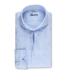 Stenströms Stenströms hemd linnen lichtblauw Fitted body