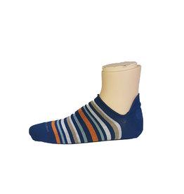 Marcoliani Marcoliani sokken blauw-oranje gestreept sneaker