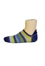 Marcoliani Marcoliani sokken blauw-groen gestreept sneaker 4266K