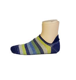 Marcoliani Marcoliani sokken blauw-groen gestreept sneaker
