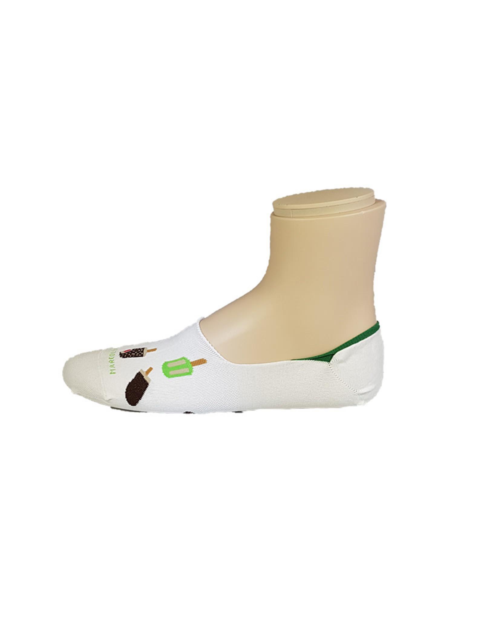 Marcoliani Marcoliani sokken wit ijsjes Invisible 4379S
