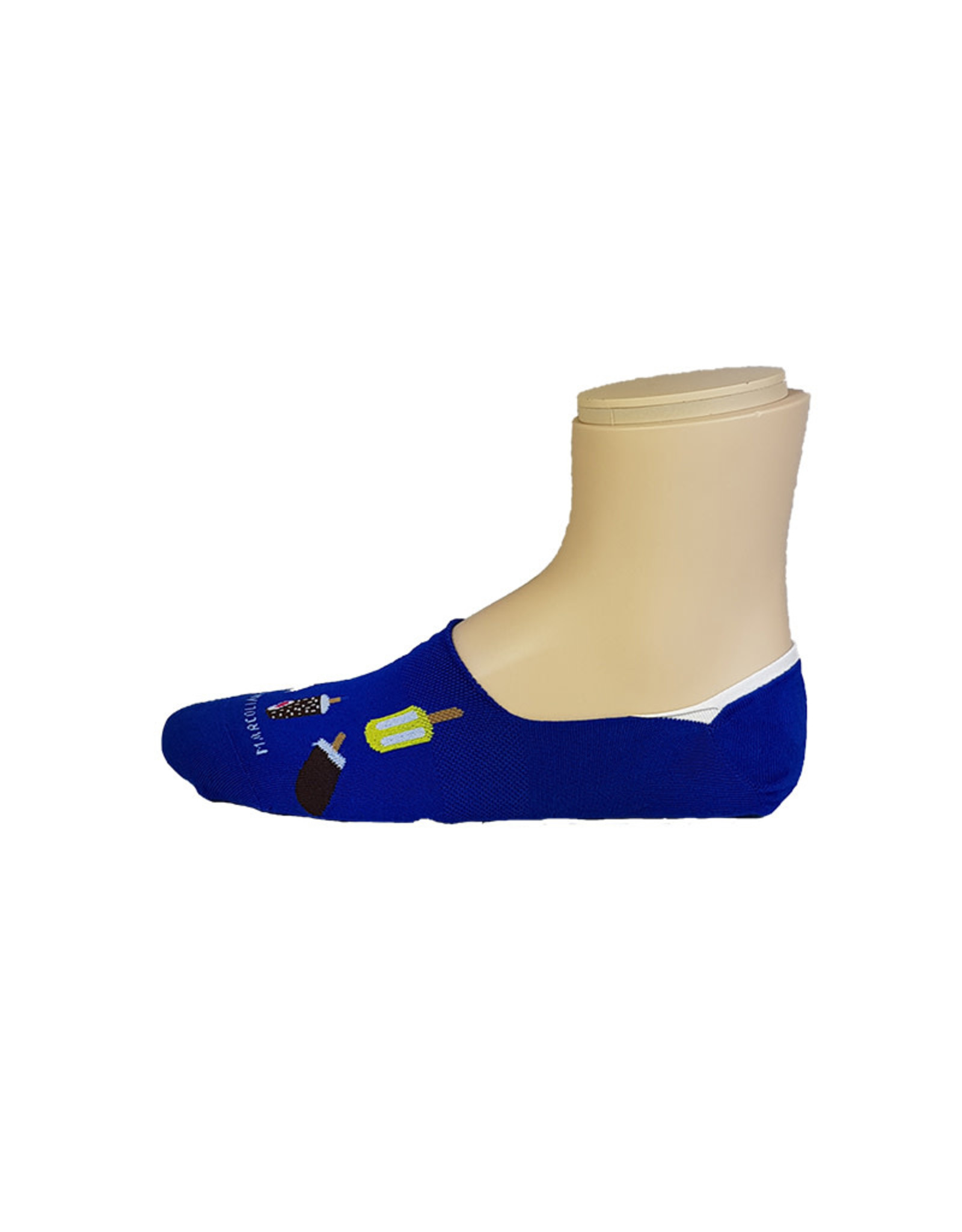 Marcoliani Marcoliani sokken blauw ijsjes Invisible 4379S