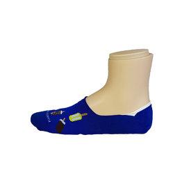 Marcoliani Marcoliani sokken blauw ijsjes Invisible