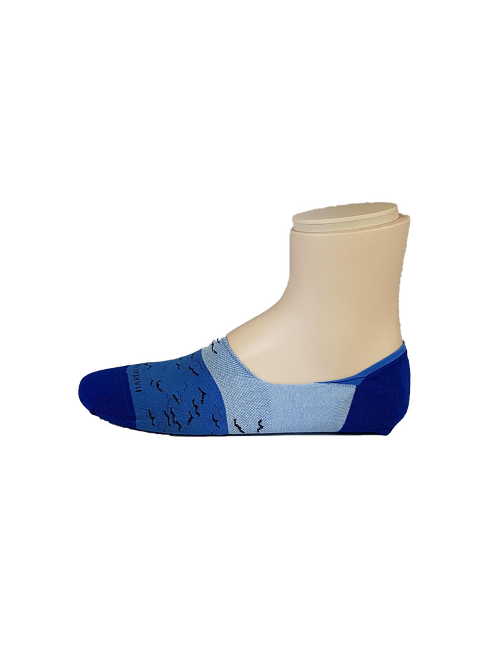 Marcoliani Marcoliani sokken blauw vogels Invisible 4371S