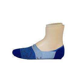 Marcoliani Marcoliani sokken blauw vogels Invisible